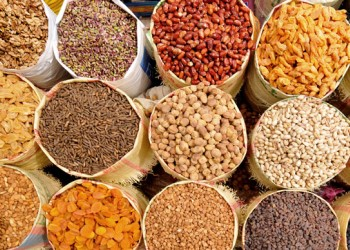 Dried nuts market in Tabriz