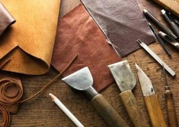 Leather work in Tabriz