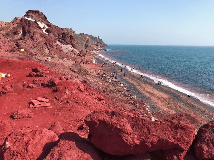 Red Beach Hormuz island